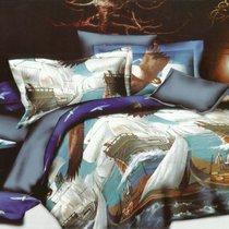 Комплект постельного белья SF-21, цвет синий, размер Евро - Home Collection