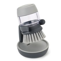 Щетка с дозатором моющего средства Palm Scrub™ серая - Joseph Joseph