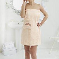 """Набор для сауны """"KARNA"""" женский махровый PERA 1/2, цвет абрикосовый, 70x150 - Bilge Tekstil"""