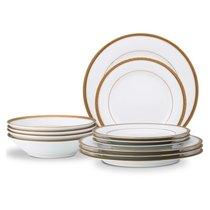 Сервиз столовый Noritake Шарлотта Голд на 4 персоны 12 предметов - Noritake