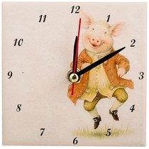 Часы Свинки: Радость Высота 10 см - ГлассМун