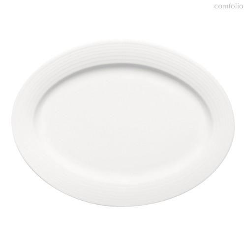 Тарелка овальная 35 см, плоская c бортом, Dialog - Bauscher