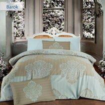 Постельное белье Altinbasak Barok, сатин, цвет бежевый, размер Евро - Altinbasak Tekstil