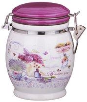 Емкость Для Сыпучих Продуктов Лавандовая Весна Высота 15 см / 750 мл - Huachen Ceramics