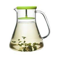 Чайник стеклянный Dancing Leaf зелёный - QDO