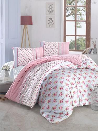 Постельное белье Ranforce Ahsen, цвет розовый, размер 1.5-спальный - Altinbasak Tekstil