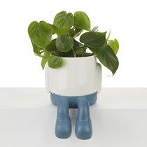 Кашпо керамическое для цветов Mr. Dangly синее 22см, цвет синий - Balvi