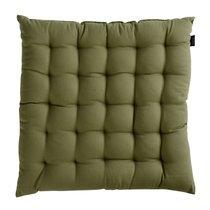 Подушка на стул оливкового цвета из коллекции Wild, 40х40 см - Tkano