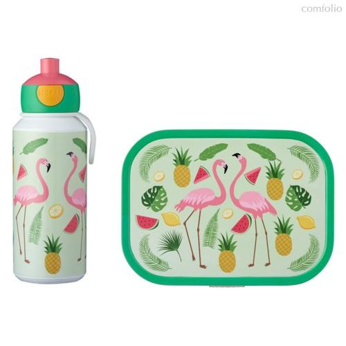 Набор детский ланч-бокс и бутылка для воды Mepal 400мл+750мл (фламинго) - Mepal