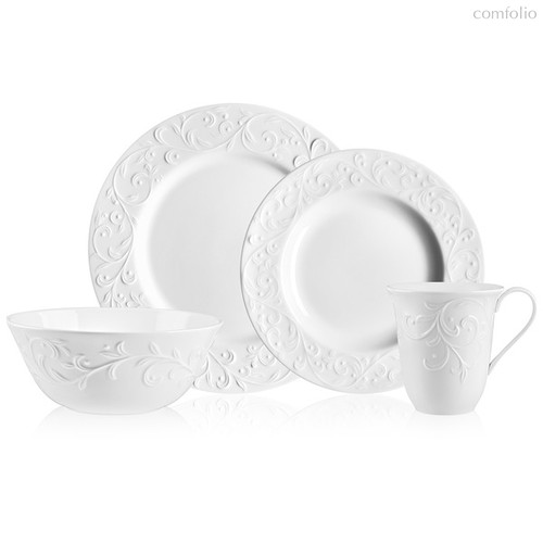 """Сервиз чайно-столовый Lenox """"Чистый опал, рельеф"""" на 4 персоны 16 предметов - Lenox"""