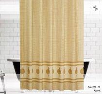 Шторы Evdy Drop для ванной, цвет бежевый, размер 180x200 - Beytug textile
