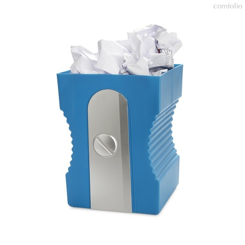 Корзина для бумаг Sharpener синяя, цвет синий - Balvi