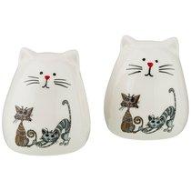Набор Из 2-Х Подставок Под Зубочистки Коллекция Озорные Коты 5x5x6 см - Hongda Ceramics
