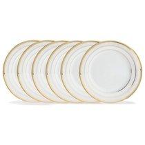"Набор из 6 тарелок закусочных Noritake ""Хэмпшир, золотой кант"" 21см - Noritake"