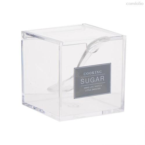 Сахарница с ложкой Essential 200гр акриловая, цвет прозрачный - D'casa