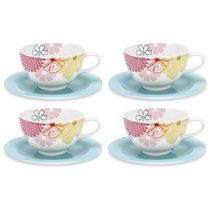"""Чашка для завтрака с блюдцем Portmeirion """"Маргаритки"""" 300мл, набор 4 шт - Portmeirion"""