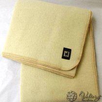 Одеяло INCALPACA (46% шерсть альпака, 33% шерсть мериноса,15% хлопок) OA-2, цвет кремовый, 195x215 см - Incalpaca TPX