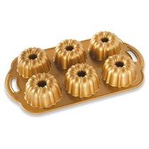 """Форма для выпечки 6 кексов 3D Nordic Ware """"Праздничные пироги"""" 1л, литой алюминий - Nordic Ware"""