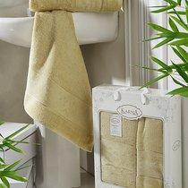 "Комплект полотенец бамбук ""KARNA"" PANDORA 50х90-70х140 1/2, цвет желтый, 50x90, 70x140 - Bilge Tekstil"