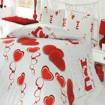КПБ COTTON LIFE 1,5 сп. (50*70/2 шт.) LOVE YOU, 1.5-спальный - Meteor Textile