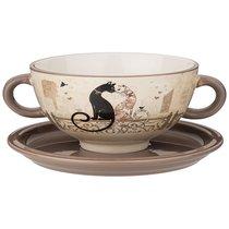 Бульонница Парижские Коты 19x14x7 см / 520 мл - Huachen Ceramics
