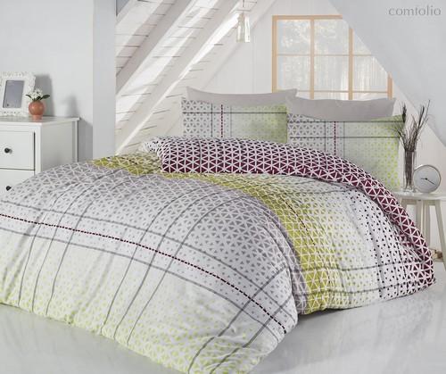 Постельное белье Ranforce Saye, цвет зеленый, Евро - Altinbasak Tekstil
