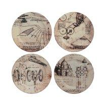 """Набор подставок для кружек Gien """"Механизмы. Леонардо Да Винчи"""" 12,8 см, 4 шт - Gien"""