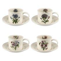 """Набор чайных чашек с блюдцами Portmeirion """"Ботанический сад. Рельеф"""" 260мл, 4шт - Portmeirion"""