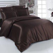 Постельное белье Karna Arin, шелк, цвет коричневый, размер 2-спальный - Karna (Bilge Tekstil)