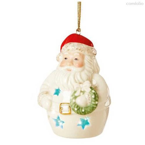 """Украшение новогоднее светящееся,шар Lenox """"Дед Мороз"""" - Lenox"""