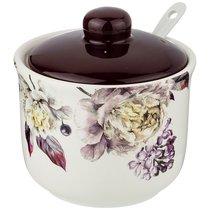 Сахарница С Ложкой Пурпур 10x10 см Высота 9,5 см / 300 мл - Huachen Ceramics