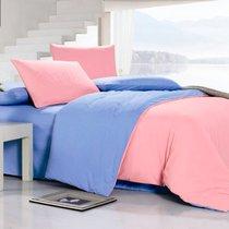 Коралл - комплект постельного белья, цвет розовый, размер 1.5-спальный - Valtery