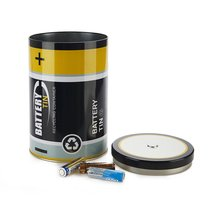 Бокс для хранения Battery Tin, цвет черный - Balvi