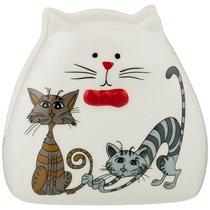 Салфетница Коллекция Озорные Коты 11x6x11 см - Hongda Ceramics