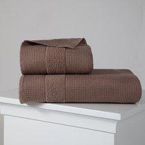 """Полотенце микрокотон """"KARNA"""" TRUVA двухсторонний 90x150 1/1, цвет коричневый, 90x150 - Bilge Tekstil"""