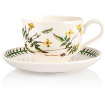 "Чашка для завтрака с блюдцем Portmeirion ""Ботанический сад.Жёлтый жасмин"" 280мл - Portmeirion"