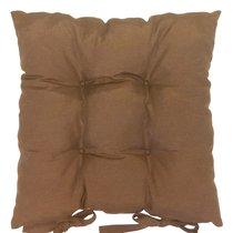 "Подушка на стул ""Кофе"", 41х41 см, P705-Z109/1, цвет коричневый - Altali"