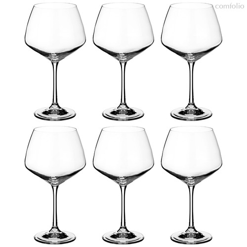 Набор бокалов для вина из 6 шт. GISELLE 580 мл ВЫСОТА 21 см (КОР 8Набор.) - Crystalex