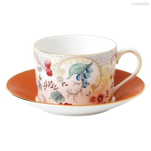Чашка чайная с блюдцем Wedgwood Вандерласт Цветы 150мл - Wedgwood