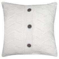 "Вязаный чехол для подушки ""Milk"", 43х43 см, 02-V201/1, цвет молочный - Altali"