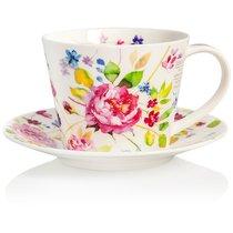 """Чашка чайная с блюдцем Dunoon 350мл """"Садовая роза. Айлей"""" (Wild Garden Rose) - Dunoon"""