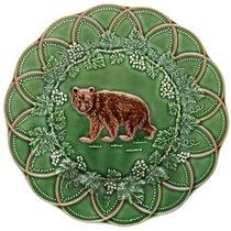 "Тарелка закусочная Bordallo Pinheiro ""Охота. Медведь"" 24см - Bordallo Pinheiro"