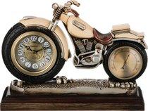 Часы Настольные Кварцевые С Термометром Мотоцикл 29, 5X10X22 см Диаметр Циферблата 8 см - Shantou Lisheng