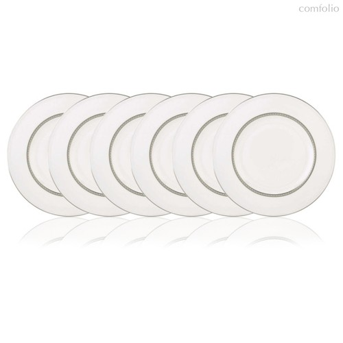 Набор тарелок акцентных Lenox Марри-Хилл 23см, фарфор, 6шт - Lenox