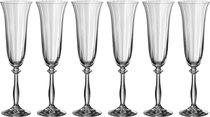 Набор бокалов для шампанского из 6 шт. АНЖЕЛА ОПТИК 190 МЛ ВЫСОТА=24 СМ (КОР=8Набор.) - Crystalex