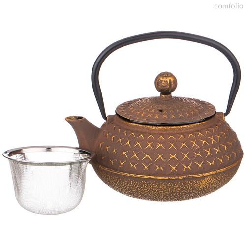 Заварочный Чайник Чугунный Латте С Эмалированным Покрытием Внутри 680 мл - Ningbo Gourmet