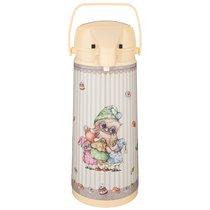 Термос Agness Совушки Со Стеклянной Колбой И Помпой 1. 9 Л, 1.9 л - Perfect Housewares