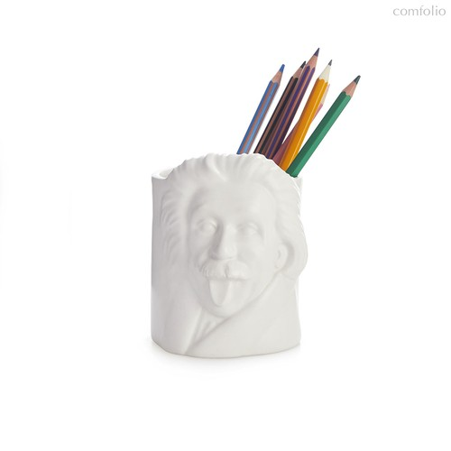 Подставка для канцелярских принадлежностей Albert Einstein, цвет белый - Balvi
