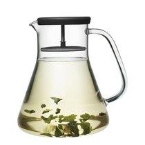 Чайник стеклянный Dancing Leaf чёрный - QDO