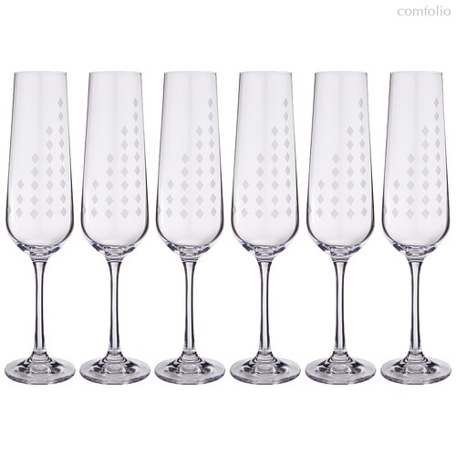 Набор бокалов для шампанского из 6 шт. SANDRA 200 мл ВЫСОТА 24,5 см - Crystalex